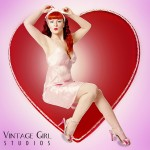 Holly Danger at Vintage Girl Studios. Boston/Providence Pin-up Photographer