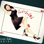 Queen of Hearts at Vintage Girl Studios. Boston/Providence Pin-up Photographer